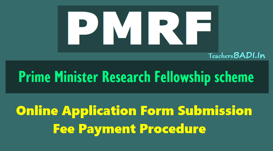 PMRF Online Application Form Submission, Fee payment procedure 2018 ...