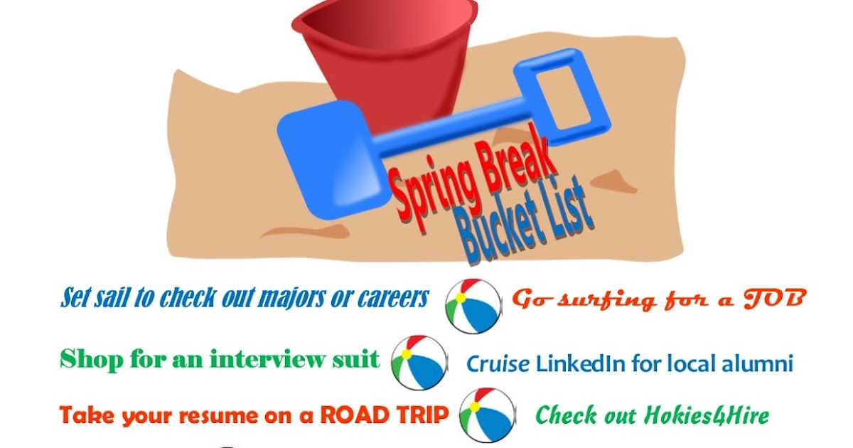 career chasse spring break bucket list there s still time to do