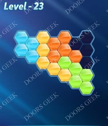 Block! Hexa Puzzle [Intermediate] Level 23 Solution, Cheats, Walkthrough for android, iphone, ipad, ipod