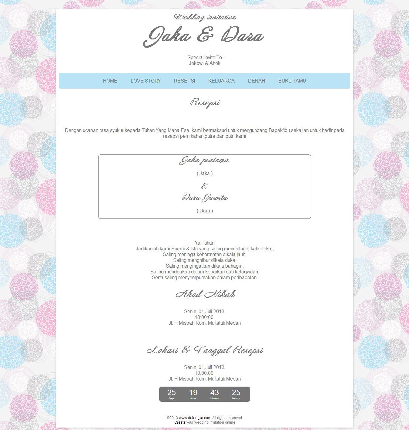 Contoh Undangan Pernikahan Membuat Undangan Pernikahan Online Free