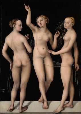 Lucas Cranach l'ancien - les trois  graces,1535
