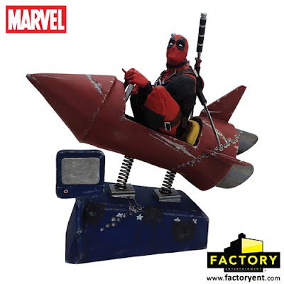 Deadpool Rocket Ride Marvel Premium Motion Statue by Factory Entertainment