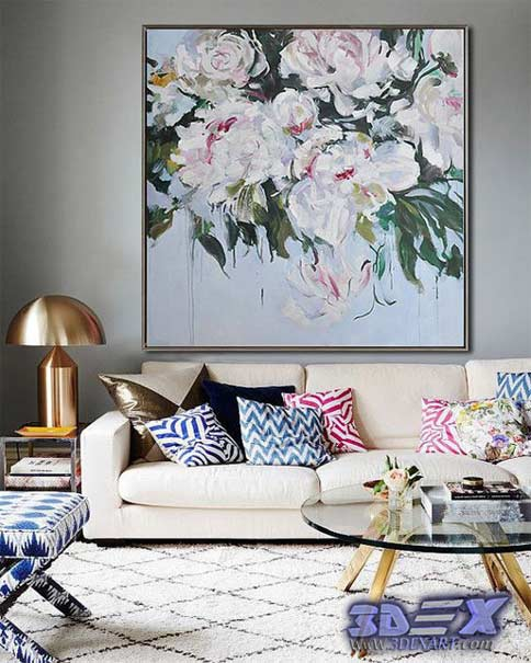 oil painting on canvas, flower oil paintings, living room wall art