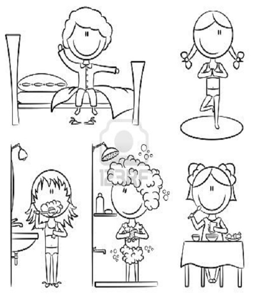 coloring pages daily activities images - photo#10