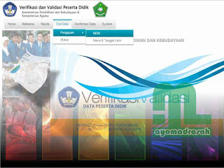 Edit Data NISN Verval PD Kemenag
