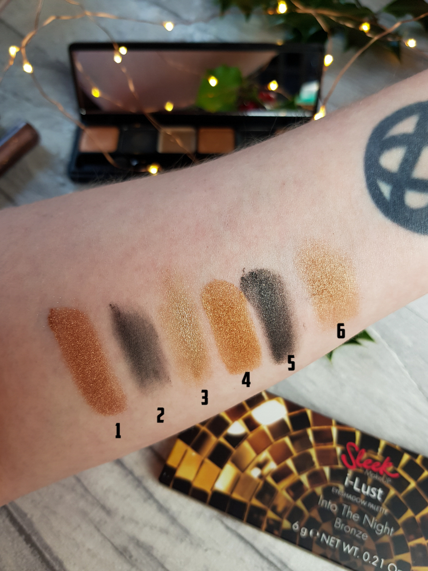Sleek Into The Night Collection 2017 i-Lust Into The Night Palette in BRONZE Swatches