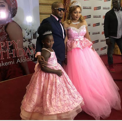 Kemi Afolabi, Her husband, daughter & other movie stars at her