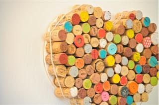 Tapas de corcho recicladas