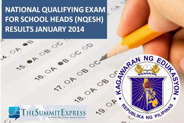 1,301 pass January 2014 NQESH; 25 examinees in Top 10
