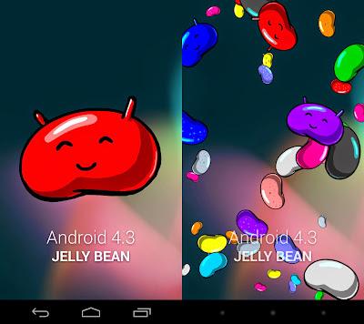 Animación de versión Jelly Bean de Android