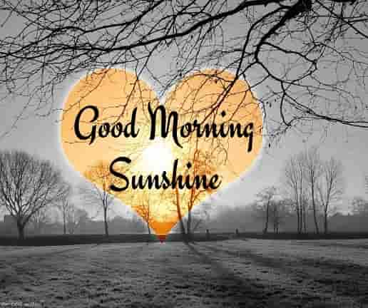 good morning sunshine with sun heart