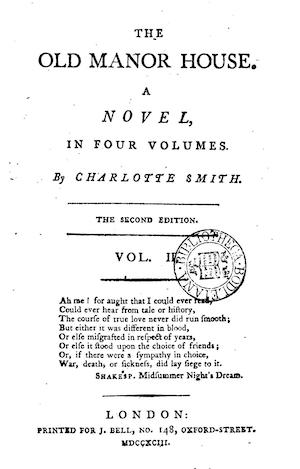 Old Manor House title page