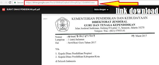 gambar Surat tentang Info Sertifikasi Guru Tahun 2017