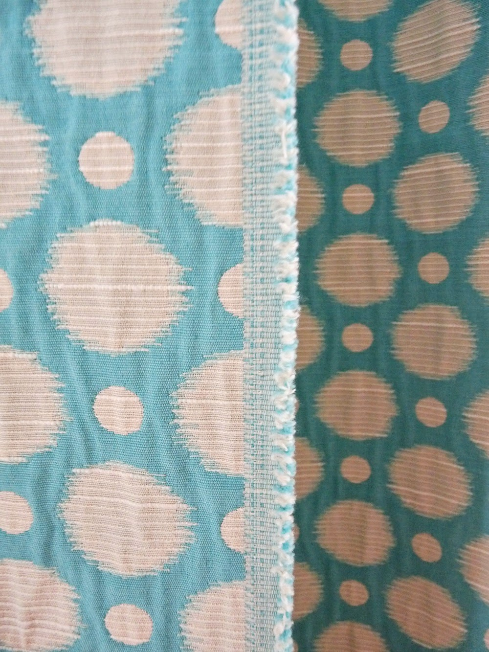 Aqua drapery fabric