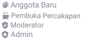 Macam Macam Lencana di  Grup Facebook