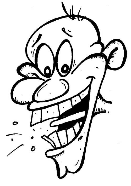face o comics laughing cartoon face