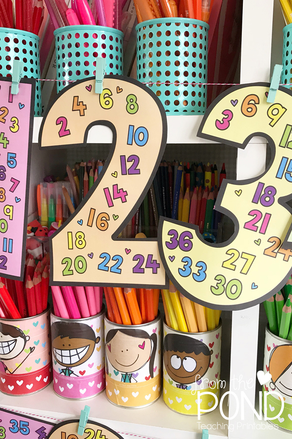 Skip Counting Posters : counting, posters, Pond:, Counting, Number, Posters
