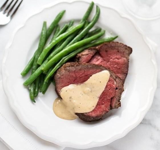BEEF TENDERLOIN WITH COGNAC CREAM SAUCE #Beef #Steaks