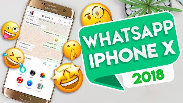 Cómo Instalar el Whatsapp CON APARIENCIA del iPhone X (IOS 11) en Cualquier Android