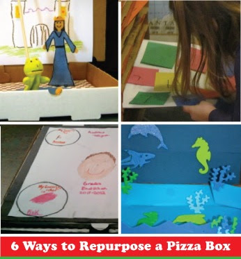 Pizza Box #DIY Crafts That Are Yummy!