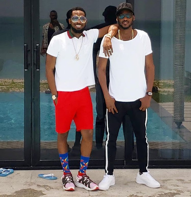 See Cute Photo Of D'banj And 2face