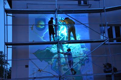 Malowanie obrazów na ścianie, malowanie mapy na elewacji, obrazy wielkoformatowe,