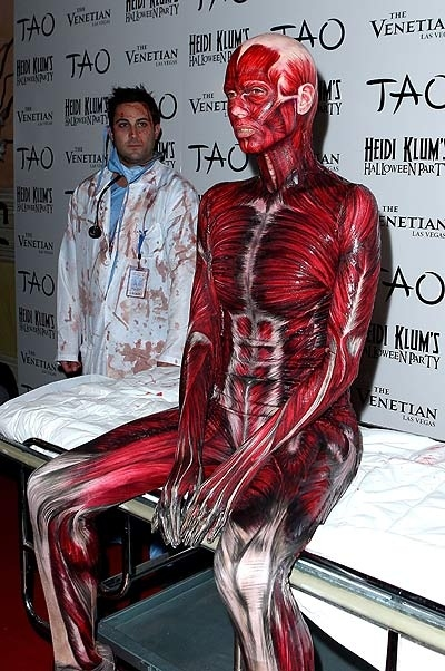 Amusing Heidi klum body paint halloween your