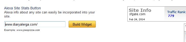 pasang widget alexa tanpa link