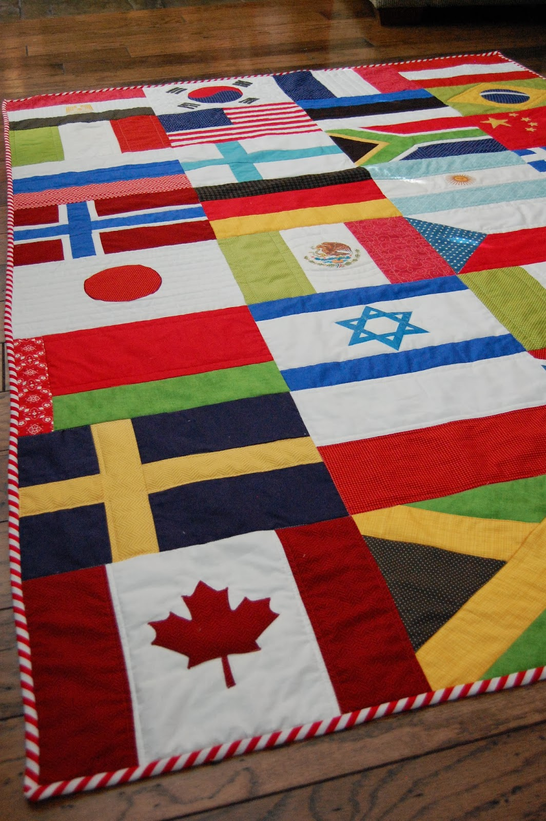 The Little Fabric Blog Olympic Flag Quilt Tutorial
