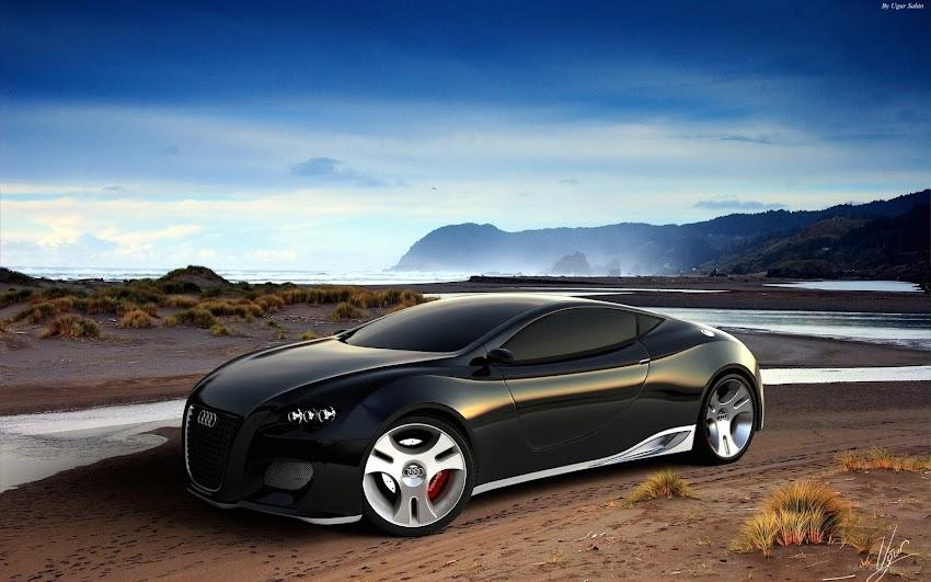 Audi Ultimate Black Concept Car