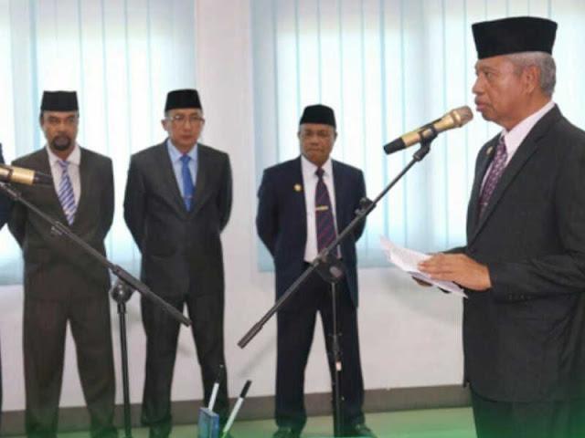 Burhan Abdurahman  Lantik 70 Pejabat Administrator di Pemkot Ternate