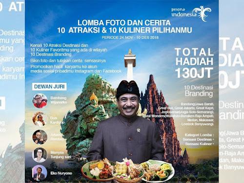 Lomba foto dan cerita destinasi wisata Indonesia