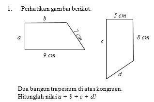 Mathematics For Junior Soal Soal Kesebangunan Dan Kekongruenan