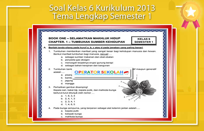 Soal Kelas 6 Kurikulum 2013