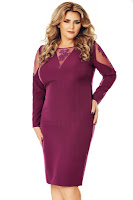 Rochie mov Plus Size Iman • Miss Grey
