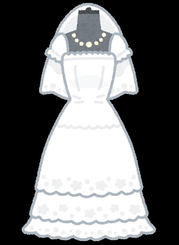 ウェディングドレスのイラスト