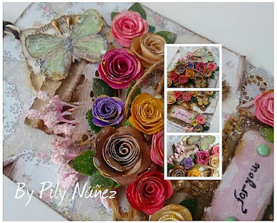 Tag Vintage: Quilling, Scrap y Mixed Media.