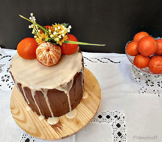 bolo de clementina e cenoura