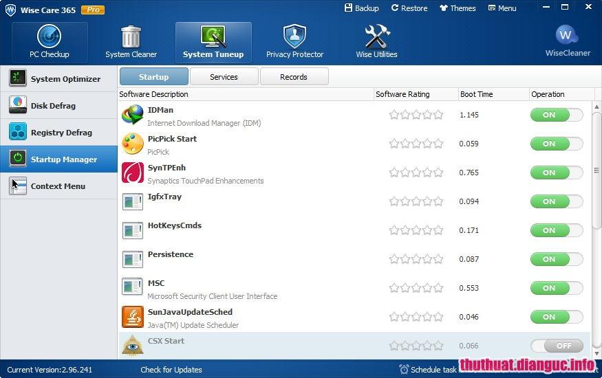 Download Wise Care 365 Pro 5.1.8 Build 509 Full Cr@ck – Phần mềm tối ưu hóa máy tính