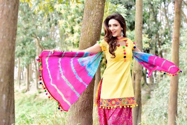 Bidya Sinha Saha New Selfie In Yellow Dress