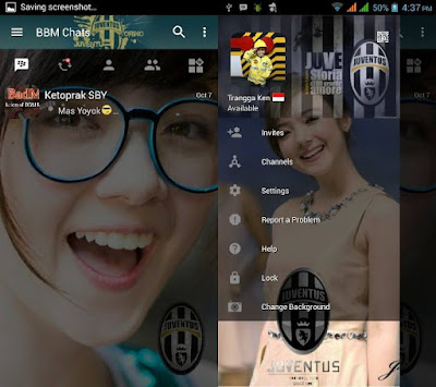 BBM MOD JUVENTUS Terbaru with Change Background v3.0.1.25 APK