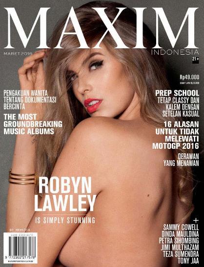 Majalah MAXIM Indonesia Edisi Maret 2016 Cover MAXIM Indonesia 2016 - Robyn Lawley, Dinda Mauldina, Sammy Dollacha Cowell | www.insight-zone.com