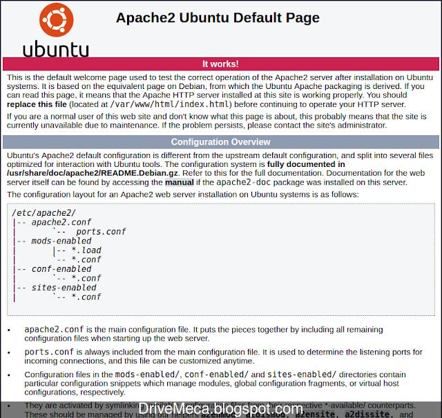 Navegamos a la ip de nuestro Ubuntu LAMP verificando apache