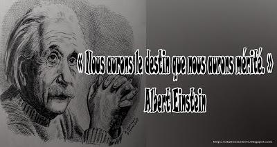 Citation Einstein sur le destin