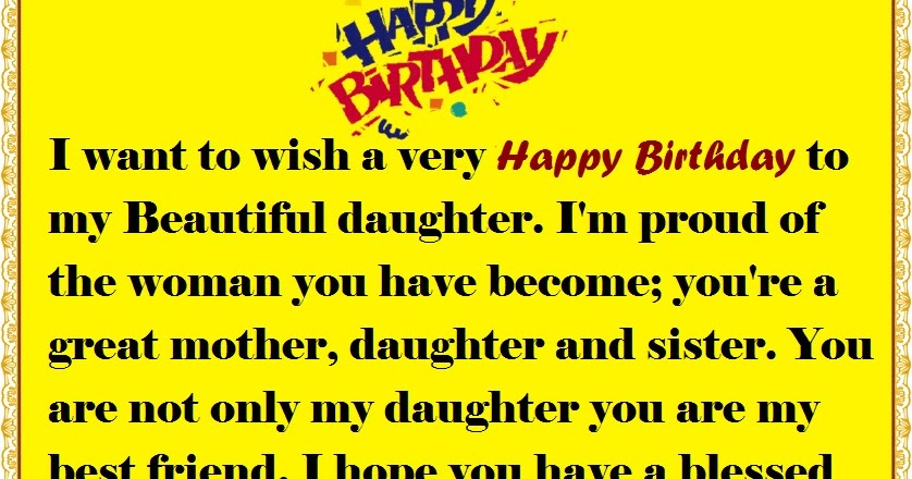 Mother To Daughter Birthday Wishes Happy Birthday Wishes