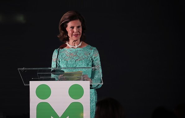 Queen Silvia of  Sweden attended 'In Light of Youth' Benefit Dinner of Mentor Foundation USA