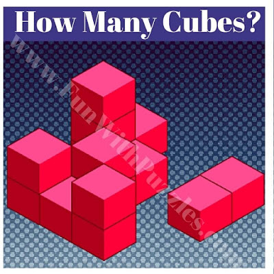 Spatial Picture Puzzle to count number of Cubes