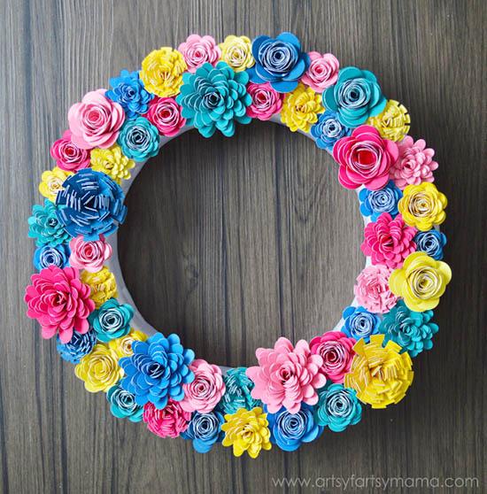 Artsy Fartsy Mama - Paper Flower Wreath