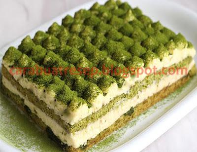 Foto Resep Tiramisu Green Tea Cake Sederhana Spesial Asli Enak