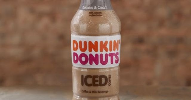 New Dunkin' Donuts Cookies & Cream Bottled Iced Coffee ...